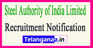Steel Authority of India SAIL Recruitment Notification 2017