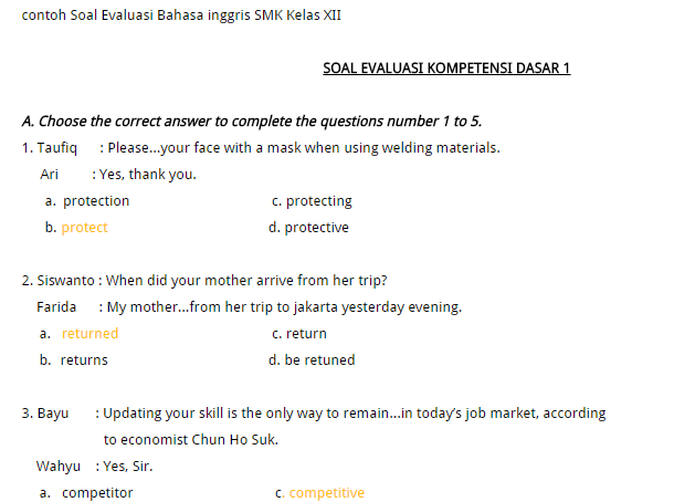 contoh soal essay conditional sentences