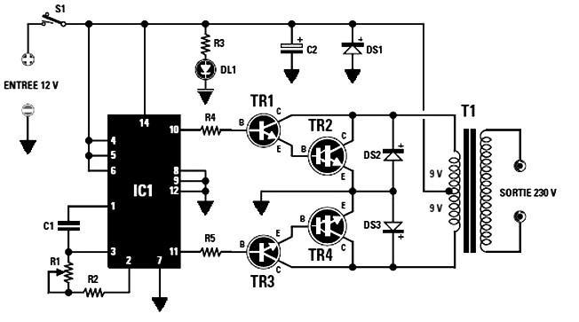 car stereo circuit using tda2040