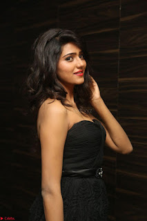 Shalu Chourasiya in spicy Sleeveless Strapless Black Top at O Pilla Nee Valla Movie Audio Launch Feb 2017 092.JPG