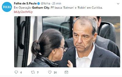 """A mais recente operação da """"Lava-Jato""""  vira caso humorístico"""