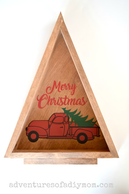 triangle christmas tree - old ruck decal