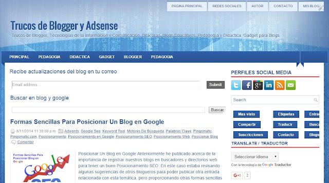 Blog de Trucos para Blogger y Adsense