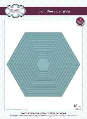 Creative Expressions Noble Collection Double Stitched Hexagon Dies CED5518