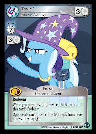 My Little Pony Trixie, Above Average Defenders of Equestria CCG Card