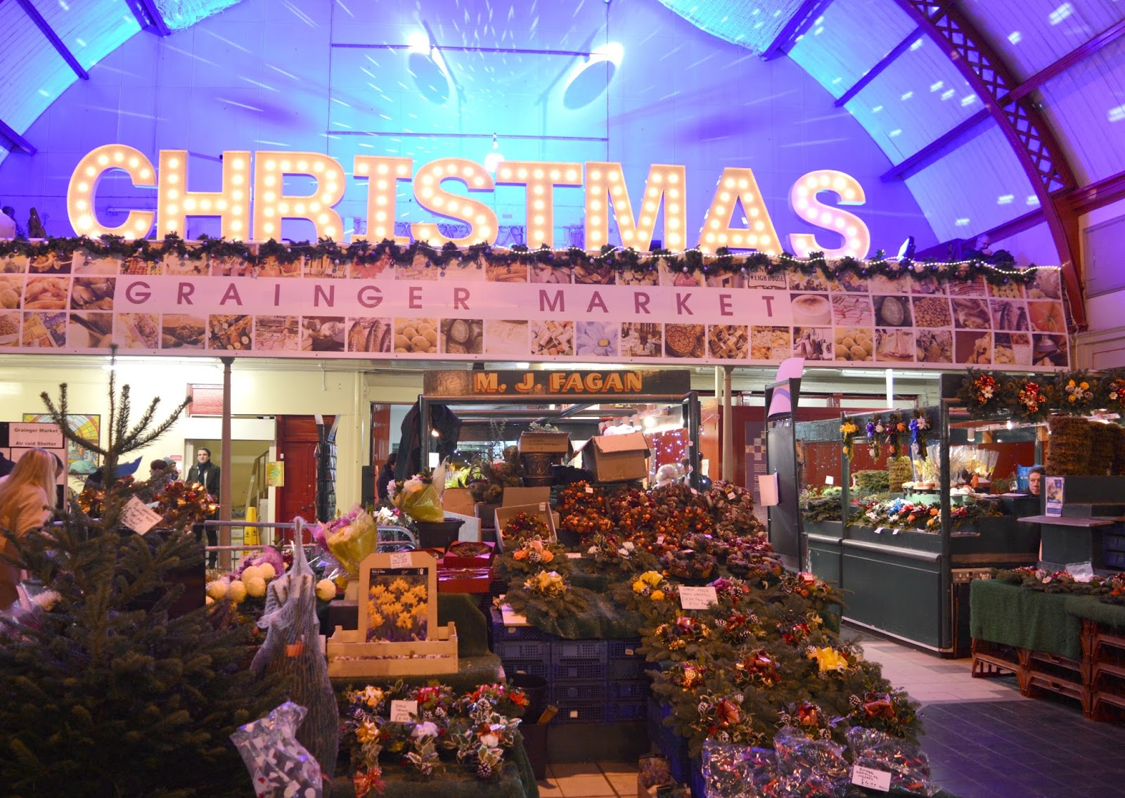 Newcastle Christmas Night Market at Grainger Market