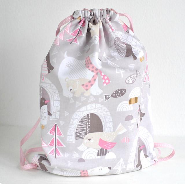 Toddler Girls Drawstring Backpack Sewing Tutorial
