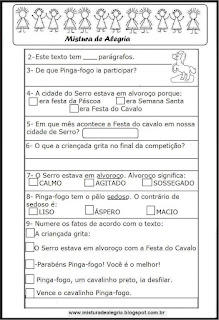 Avaliação de português 2º ano
