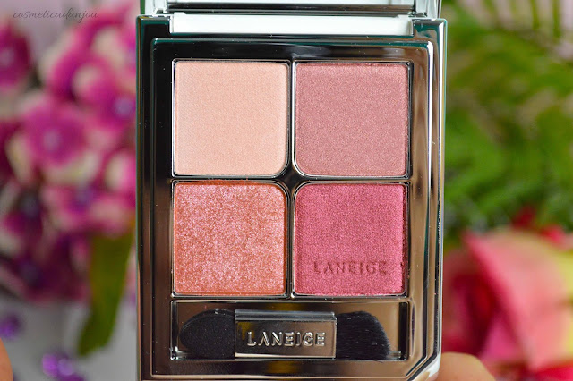 Laneige Ideal Shadow Quad No.7 Rosebay Garden swatches