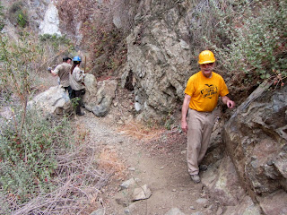 Fred Rice and trail maintenance volunteers on Fish Canyon Trail