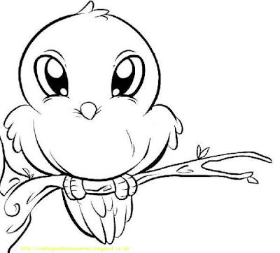 Gambar Mewarnai Burung - 7