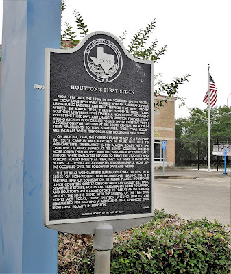 Houston's First Sit-In Historical Marker on Almeda