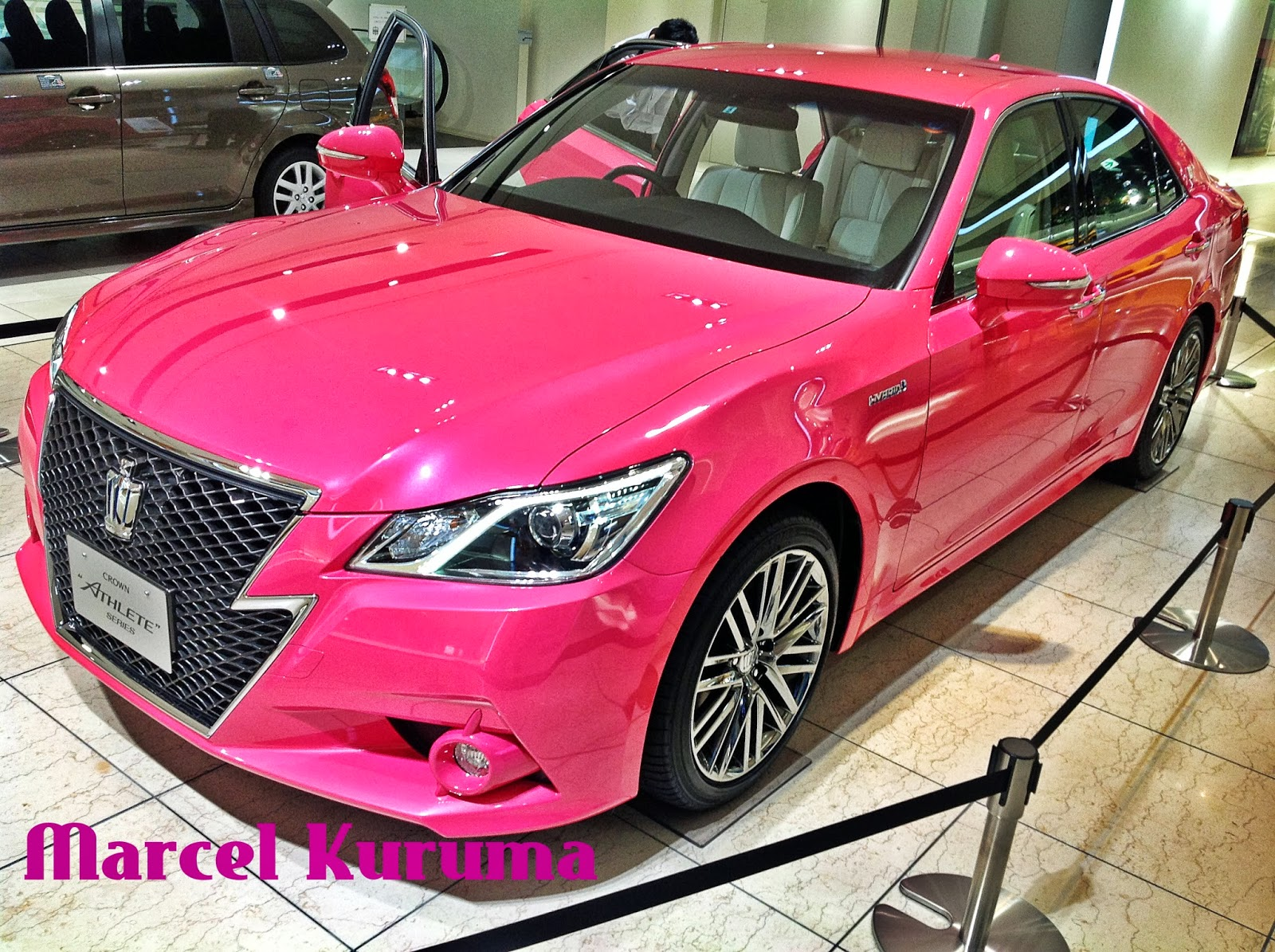 Toyota crown athlete pink limited edition