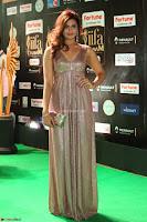 Telugu Actress Aarthi in Deep Neck Backless Golden Gown at IIFA Utsavam Awards 2017 Exclusive 31.JPG
