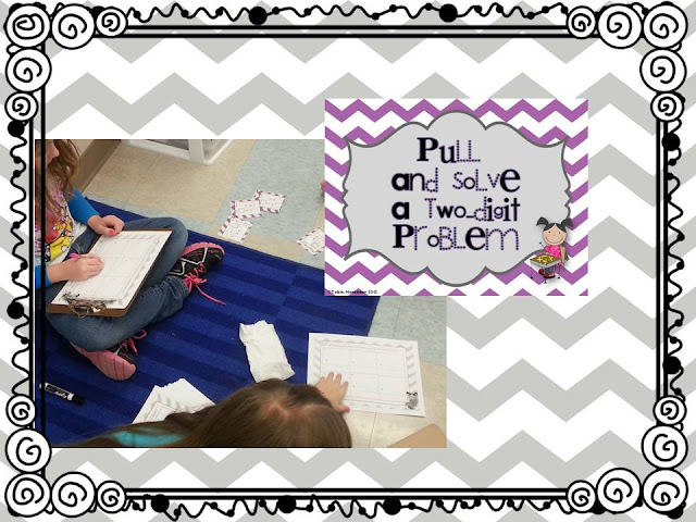 Double Digit Addition centers- reviewing activities for a double digit addition unit