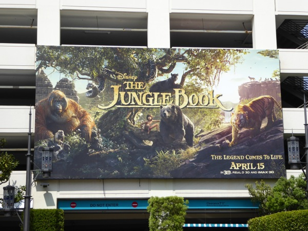 Disney Jungle Book movie billboard