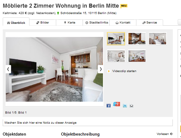 m blierte 2 zimmer wohnung in berlin mitte schr derstra e 15 10115. Black Bedroom Furniture Sets. Home Design Ideas