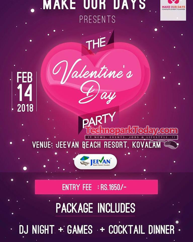 valentines day beach party trivandrum