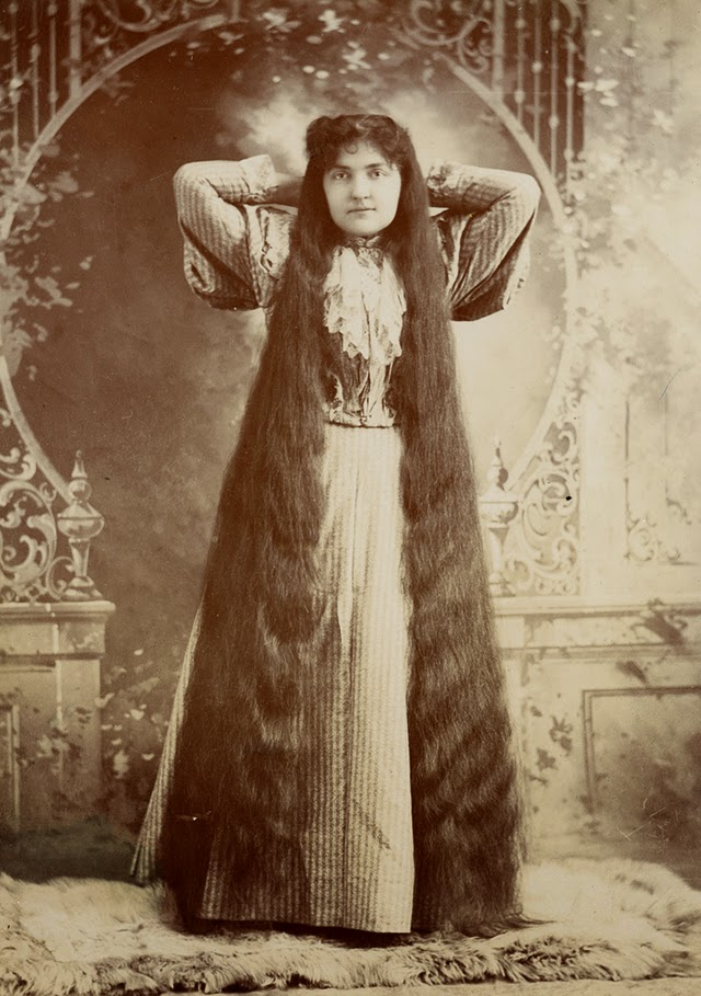 17 interesting vintage portraits of long hair victorian