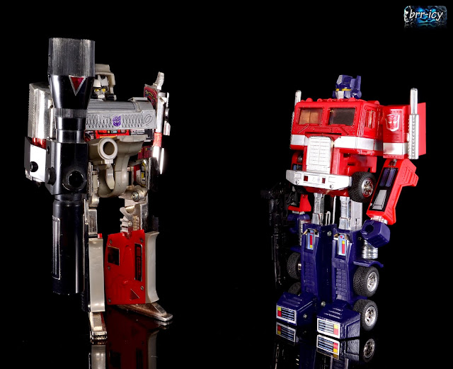 brr icys transformers reviews megatron optimus prime