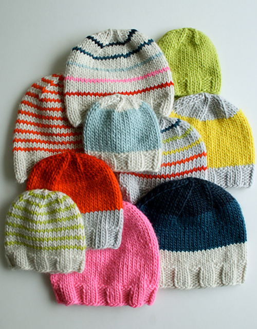 Super Soft Merino Hats for Everyone - Free Pattern