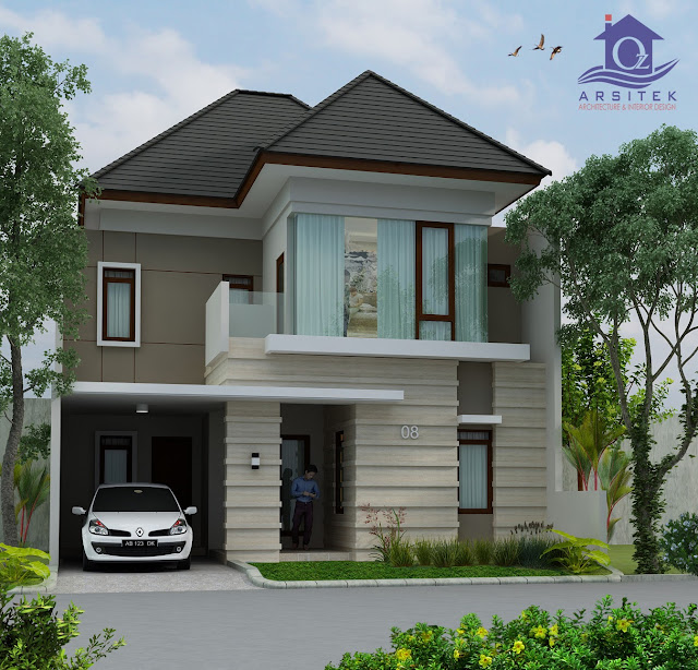 Desain Eksterior Rumah Ibu Herning di Bantul, Yogyakarta