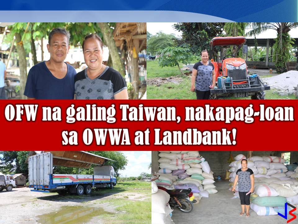 After four years of working, in 1998 they were able to save money to start their own business. Eventually, Gina decided to go back in the Philippines for good and to be with her family. With P20,000 as a capital, she and her husband start their Buy & Sell of Agricultural Products in their area.       Just like any other business, it was difficult at first because they have limited capital and getting the trust of farmers in their community is not that easy. But eventually, their business prosper through hard work, patience, and dedication. After 10 years, the business grows and they were able to acquire vehicles and various equipment for their business.
