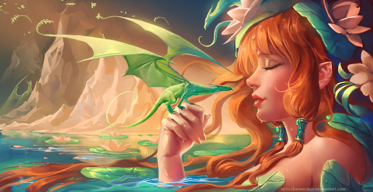 Anime Girl With Dragon Wallpapers