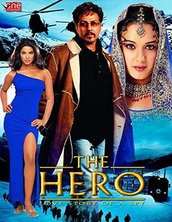 Poster Of The Hero Love Story of a Spy 2003 Hindi 500MB HDRip 480p Free Download Watch Online