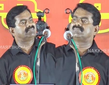 Seeman Thundering Speech in Heavy Rain | Social issues faced by Tamil Nadu