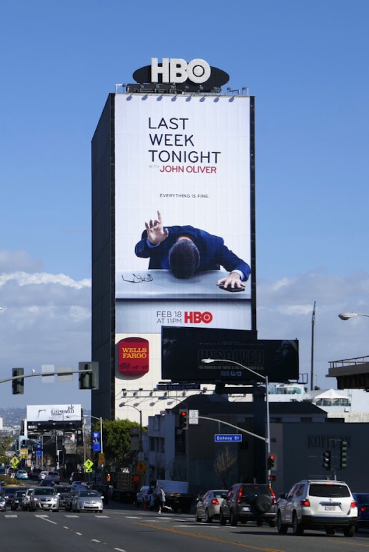 Last Week Tonight John Oliver season 5 billboard Sunset Strip