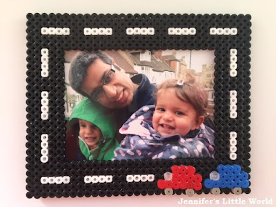 Hama bead transport themed frame