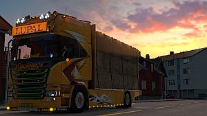 Scania Lupal standalone truck + trailer