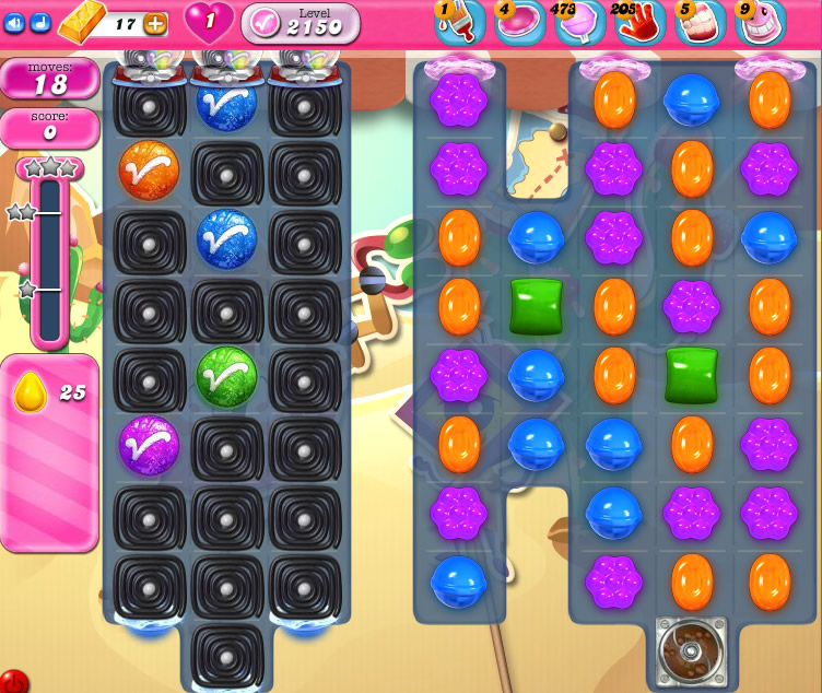 Candy Crush Saga level level 2150