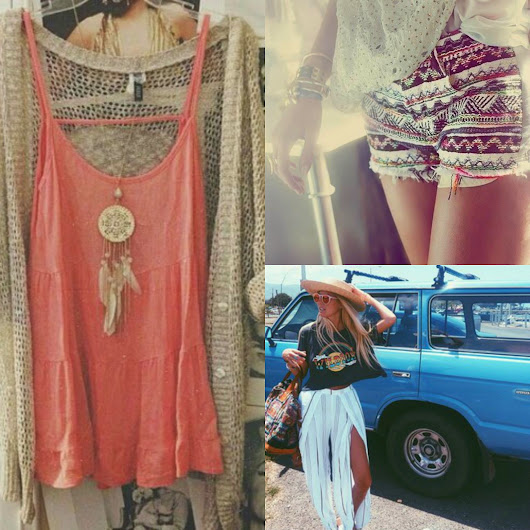 Inspiration Collage: Boho Chic