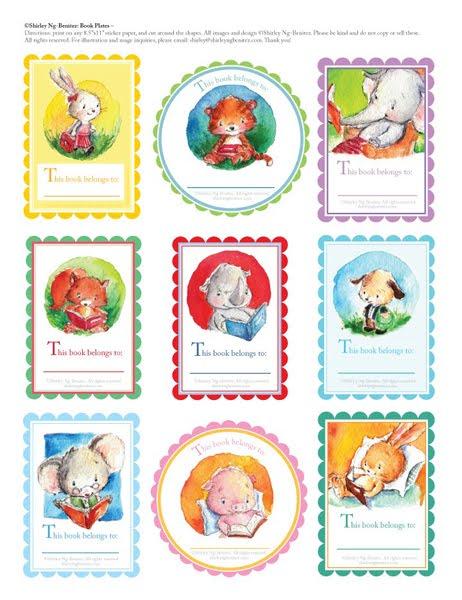 free printable bookplates templates - puppy love preschool free book plate label printables