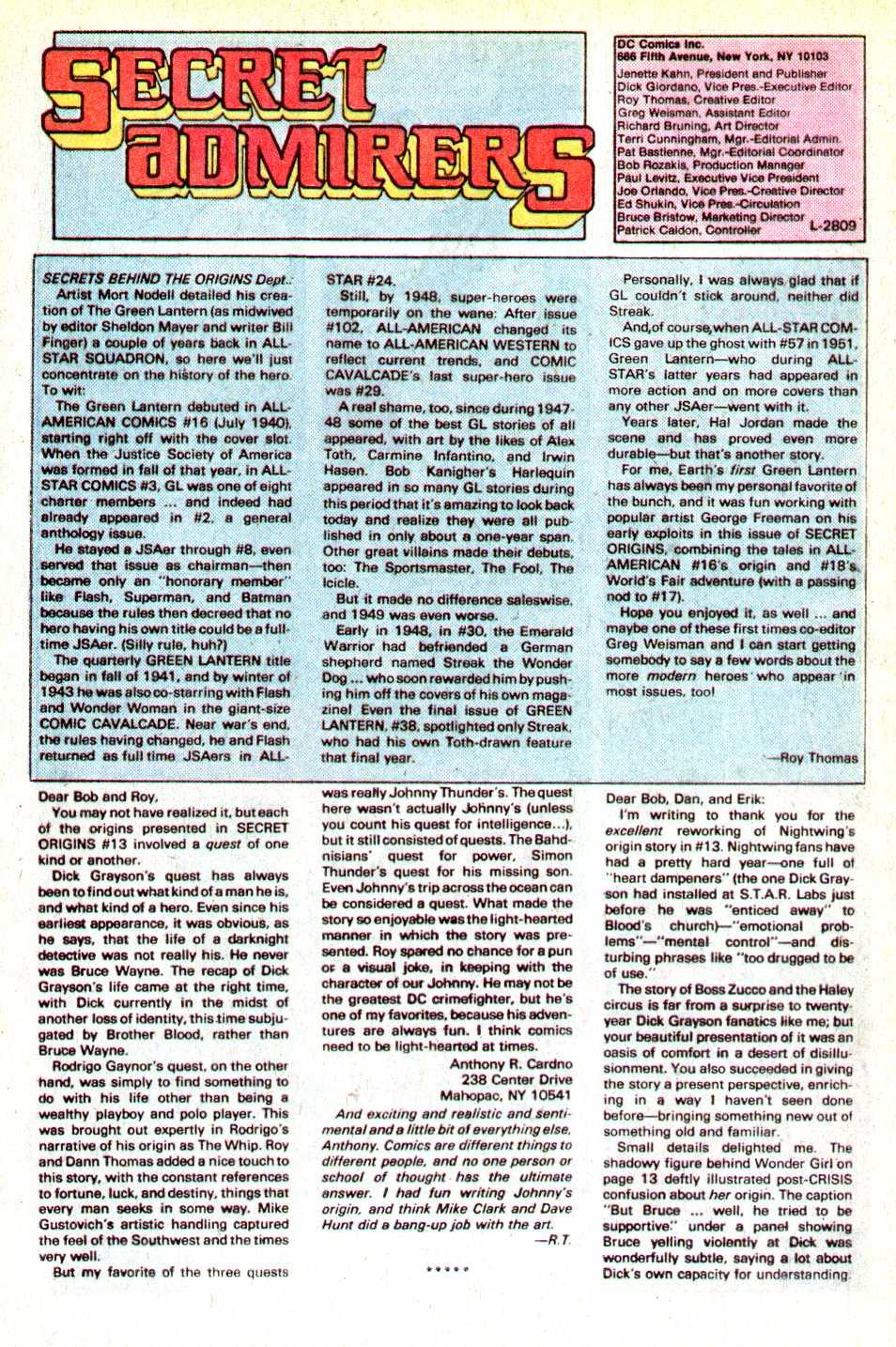 Read online Secret Origins (1986) comic -  Issue #18 - 41