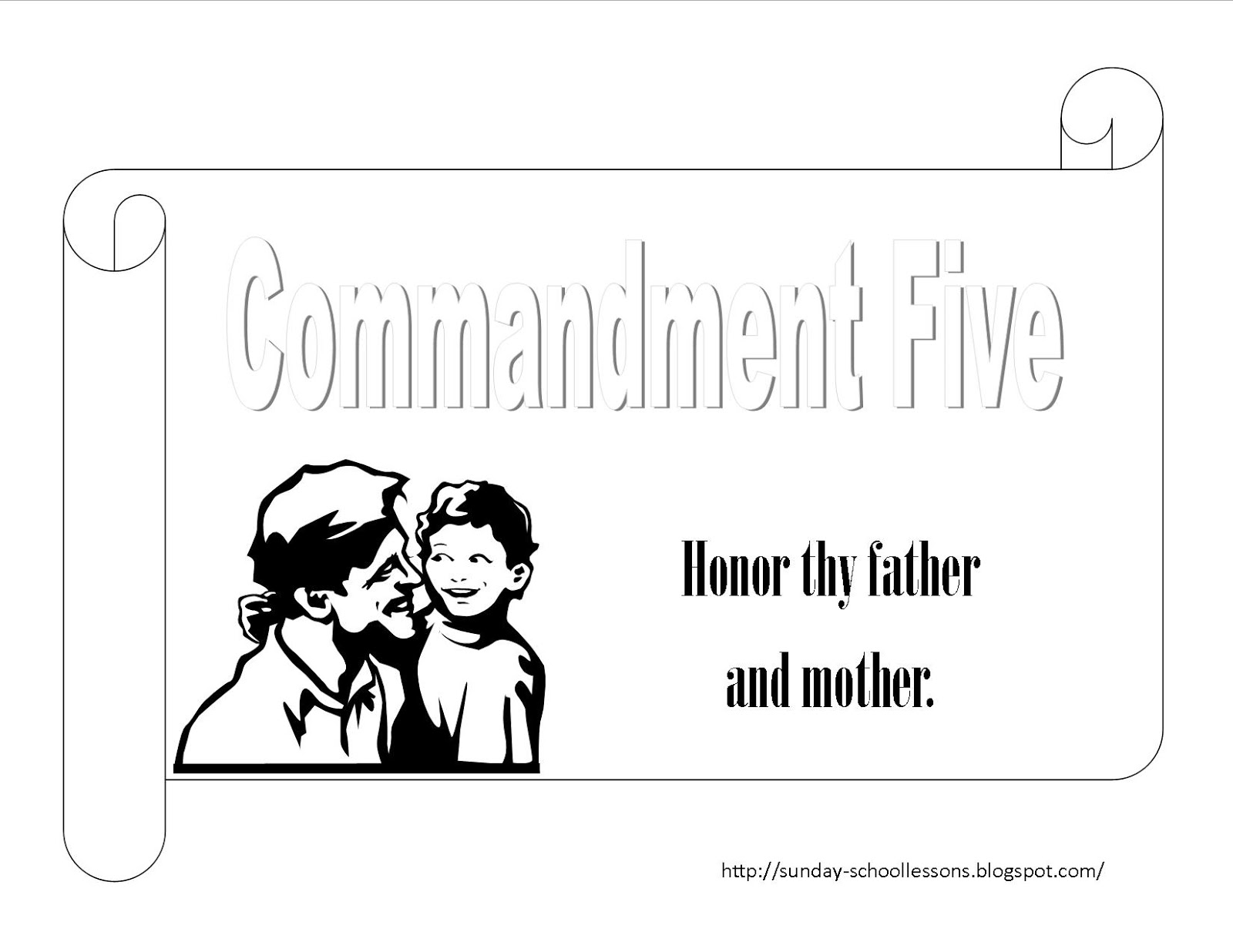 First commandment coloring pages for 1st commandment coloring page