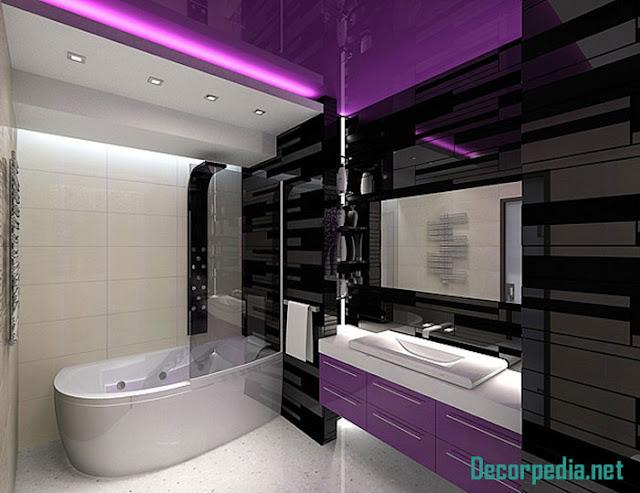 bathroom ceiling designs 2019, purple stretch ceiling for bathroom