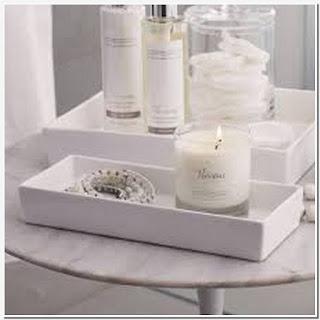 Ceramic tray for bathroom