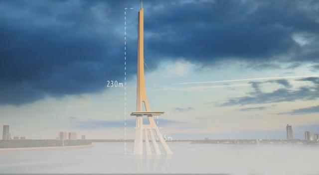 Cấu trúc tháp chính cầu Cần Giờ