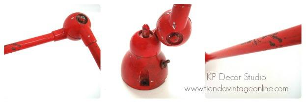 Lámpara articulada industrial antiguo taller. francia. jielde