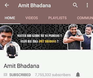 amit bhadana - amit bhadana  video, youtube, top 10 youtubers,, youtube, comedy, vines, indian youtuber, top youtuber