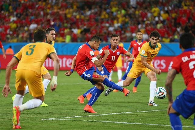 Chile y Australia en Copa del Mundo Brasil 2014, 13 de junio