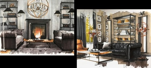 00-Sergei-Tihomirov-СЕРГЕЙ-ТИХОМИРОВ-Varied-Living-Room-Interior-Design-Sketches-www-designstack-co