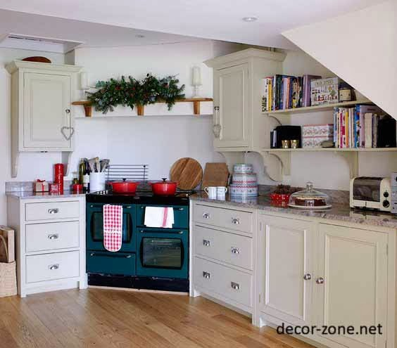 kitchen decorating ideas, books in the kitchen