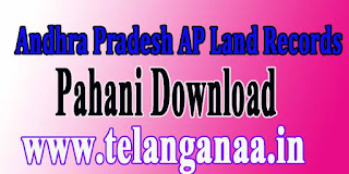 AP Adangals Pahani Land Records Free Download Govt site meebhoomi.ap.gov.in