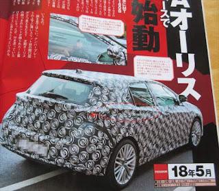トヨタ新型オーリスが2018年にフルモデルチェンジするってよ