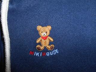 ミキハウス 刺繍 クマ
