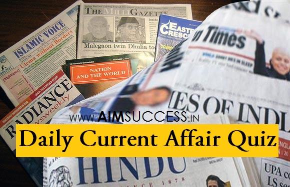 Daily Current Affairs Quiz: 02 June 2018